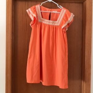Orange embroidered dress